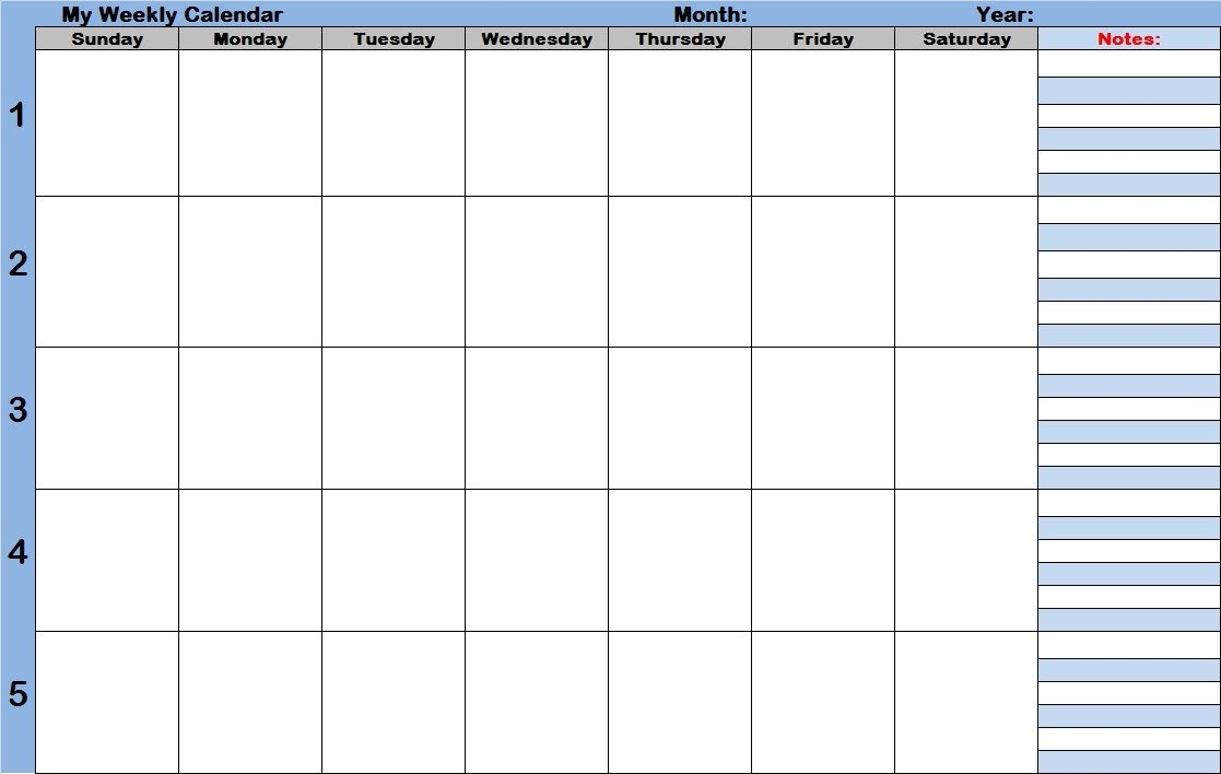 7 Best Images Of Printable Weekly Calendar With Time Slots