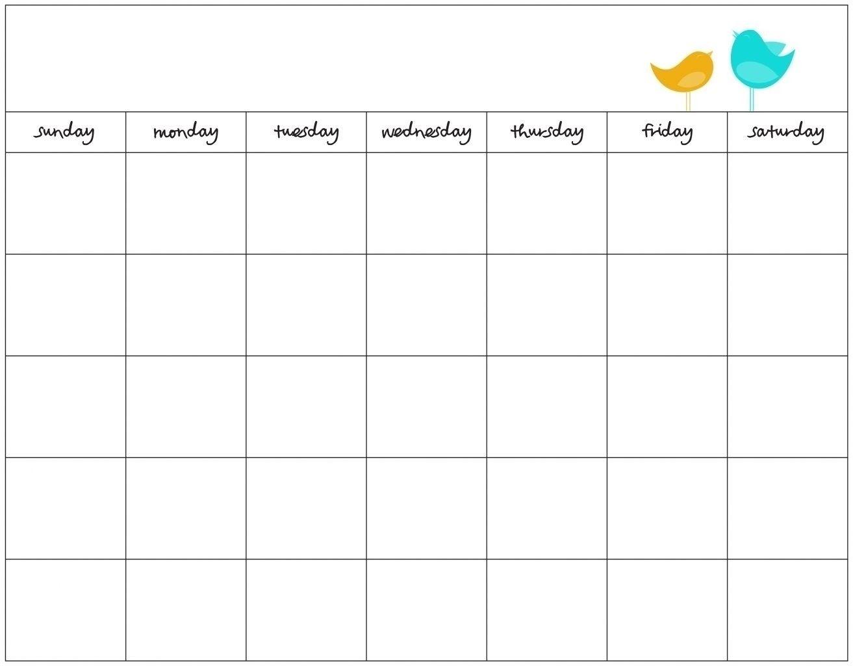 7 Day Week Calendar Template | Free Calendar Template Example