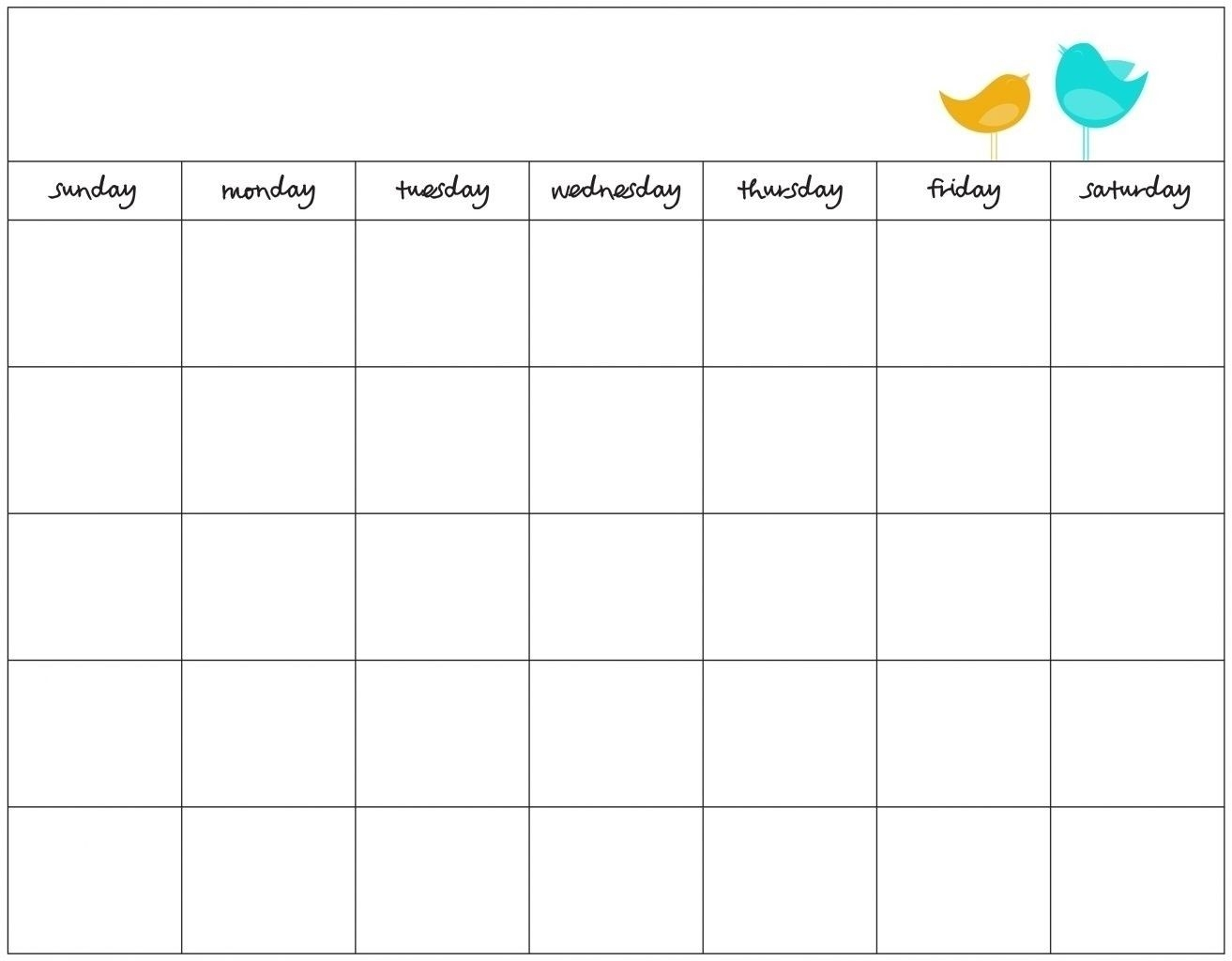 7 Day Week Calendar Template | Free Calendar Template Example