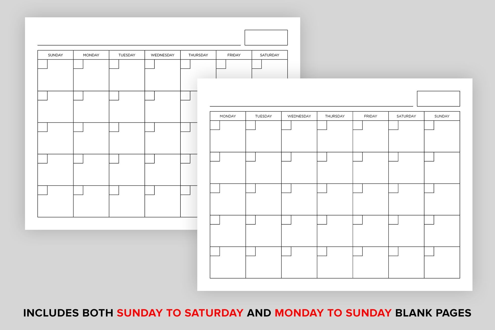 8.5 X 11 Inch Blank Calendar Page Template By Running With