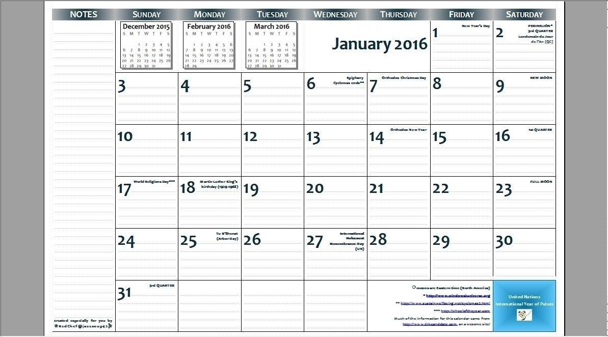 8.5 X 14 Blank Calendar Templates | Calendar Template Printable