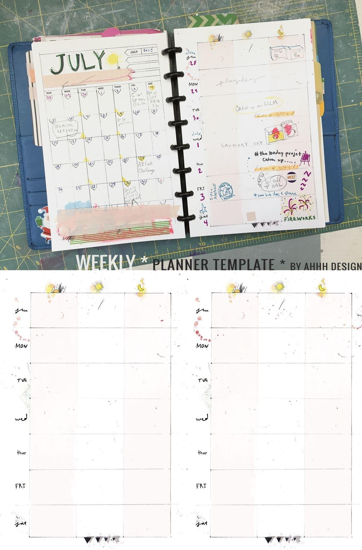 A Messy Week | Planner Template, Daily Planner Diy, Diy Planner