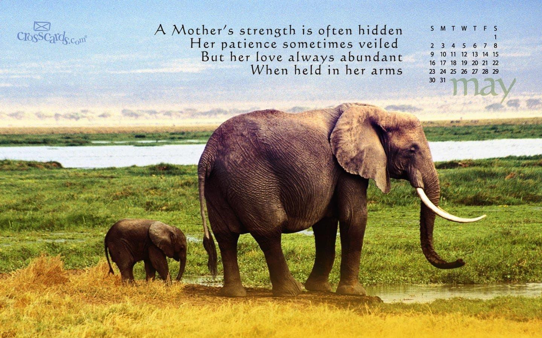 A Mother's Strength Desktop Calendar- Free Monthly Calendars