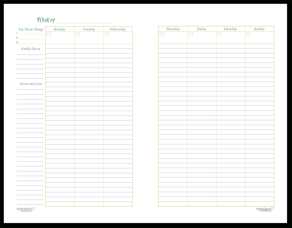 A Variety Of Weekly Planner Printables For Your Planners.