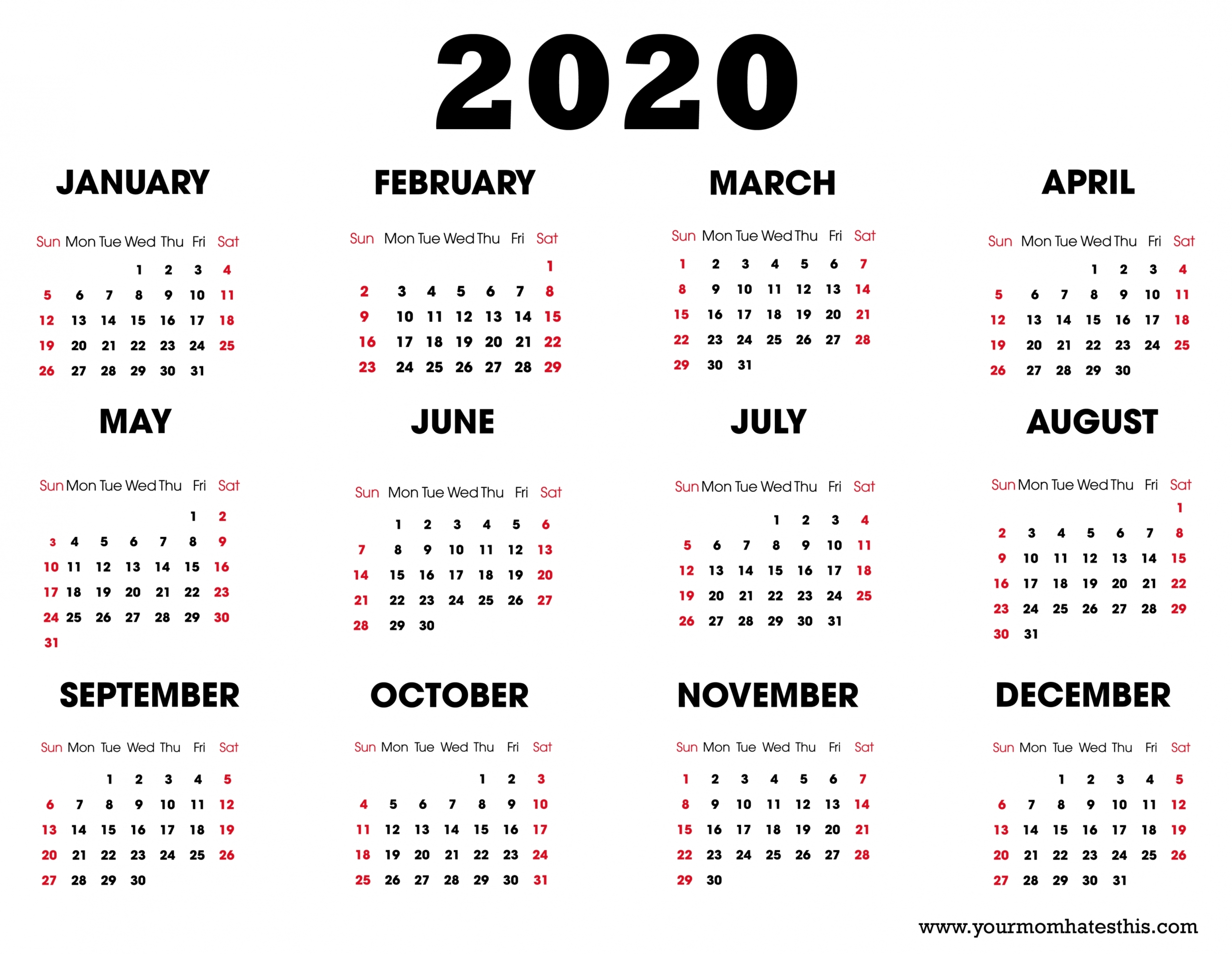 Admin In 2020 | Calendar Download, Printable Calendar Design
