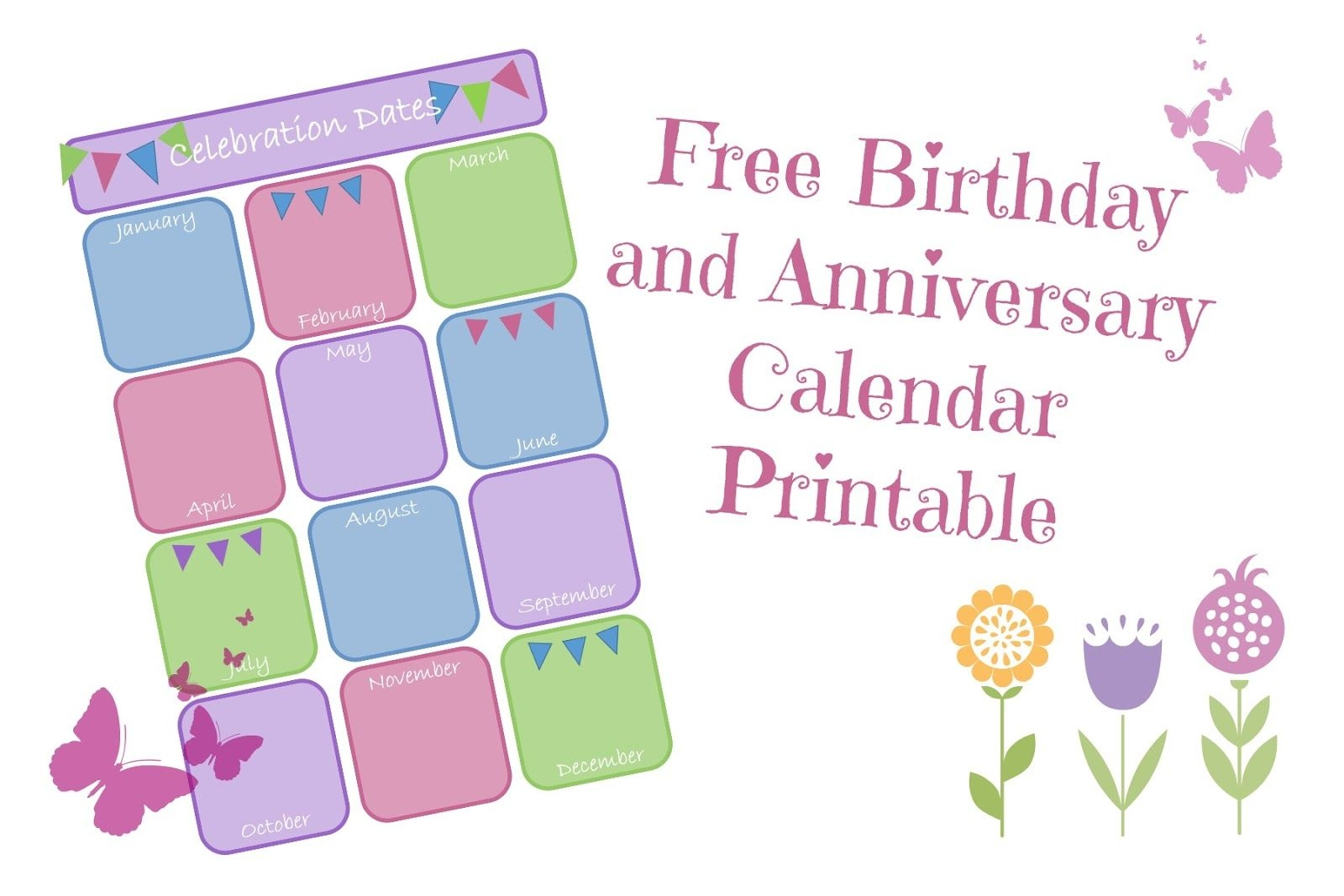Adoorabell: Perpetual Birthday And Anniversary Calendar