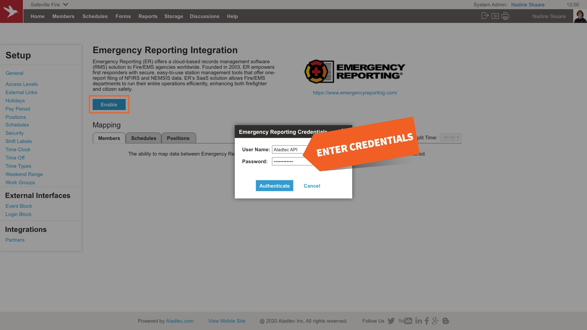 Aladtec Integrates With Emergency Reporting - Aladtec
