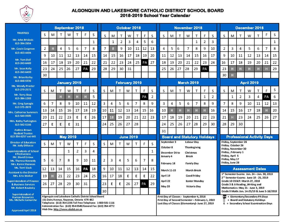 """Alcdsb On Twitter: """"mark Your Calendars! Here Is A List Of"""