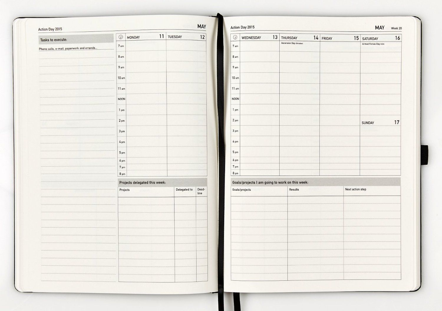 Amazon : Action Day Weekly Planner 2015 - Size 8X11