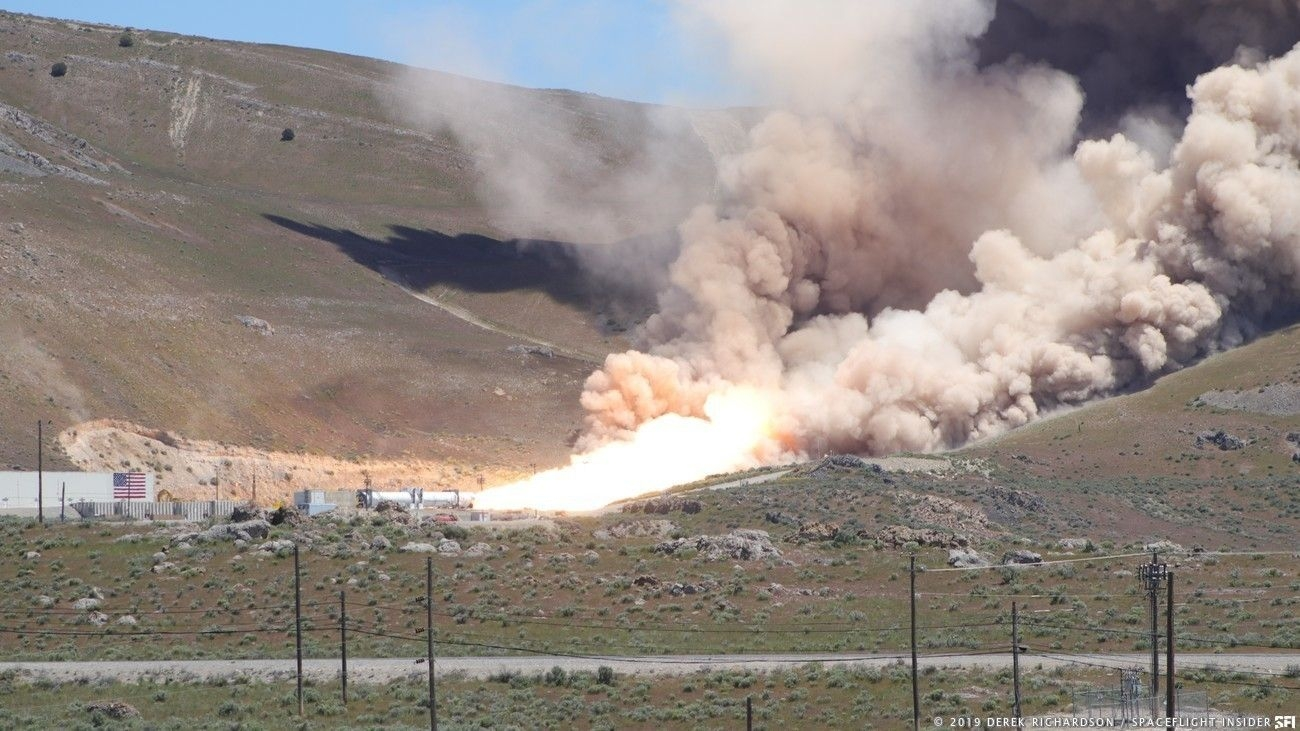 Anomaly Occurs During Omega First Stage Static Fire Test