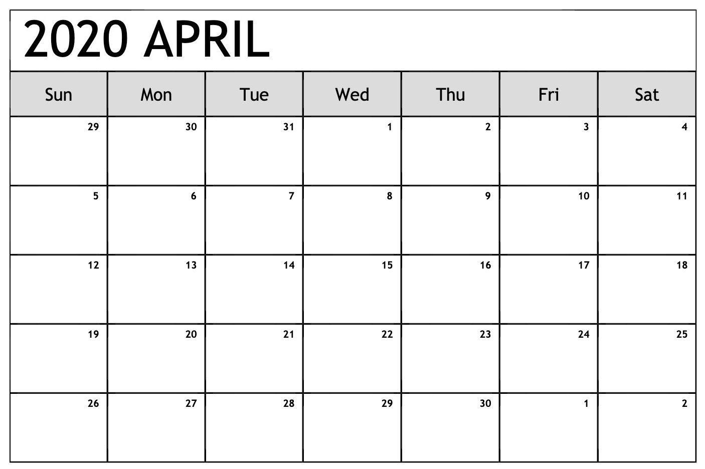 April 2020 Calendar Pdf Sheet For Exam | February Calendar
