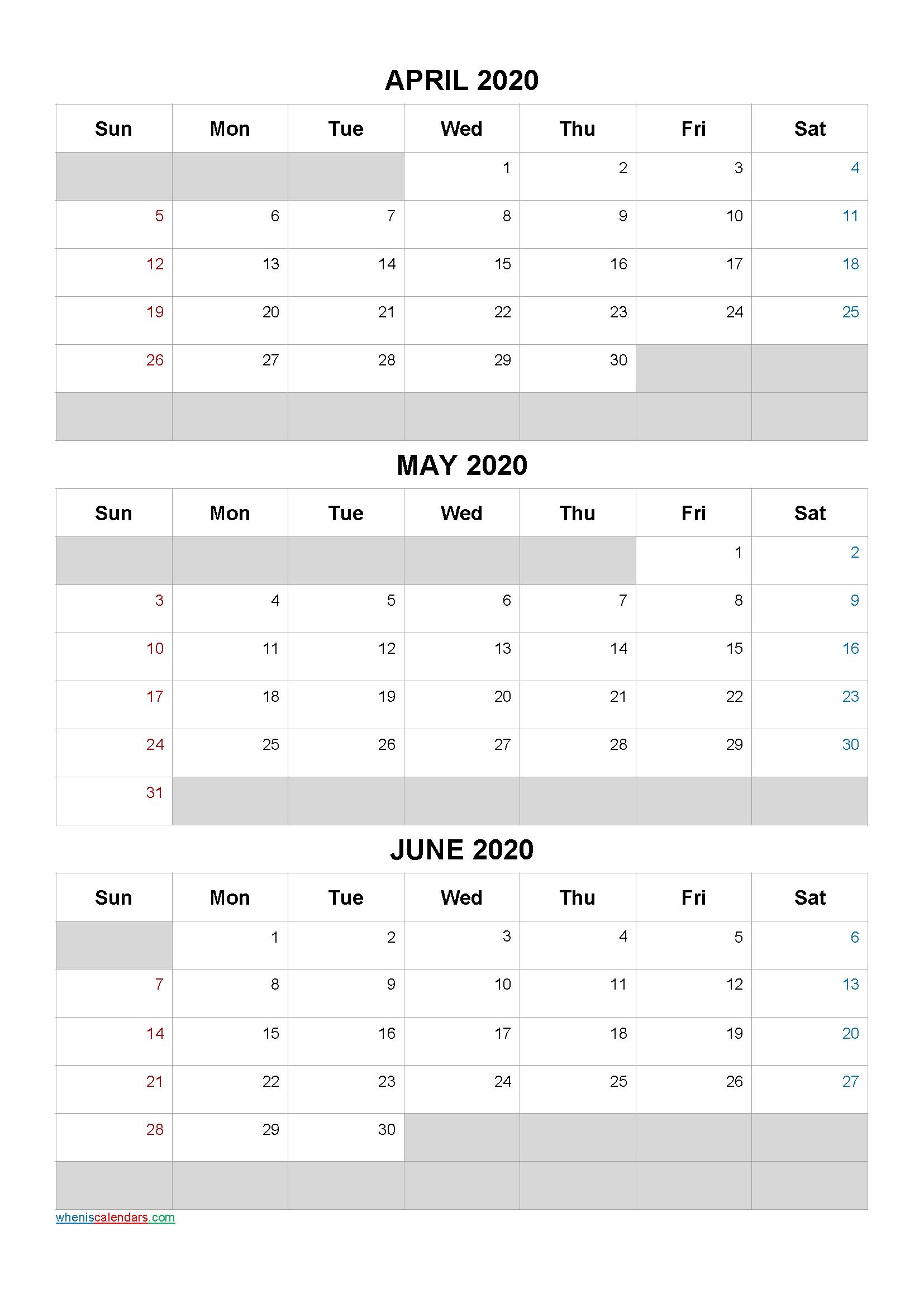 April May June 2021 Free Printable 3 Month Calendar-21Ar5