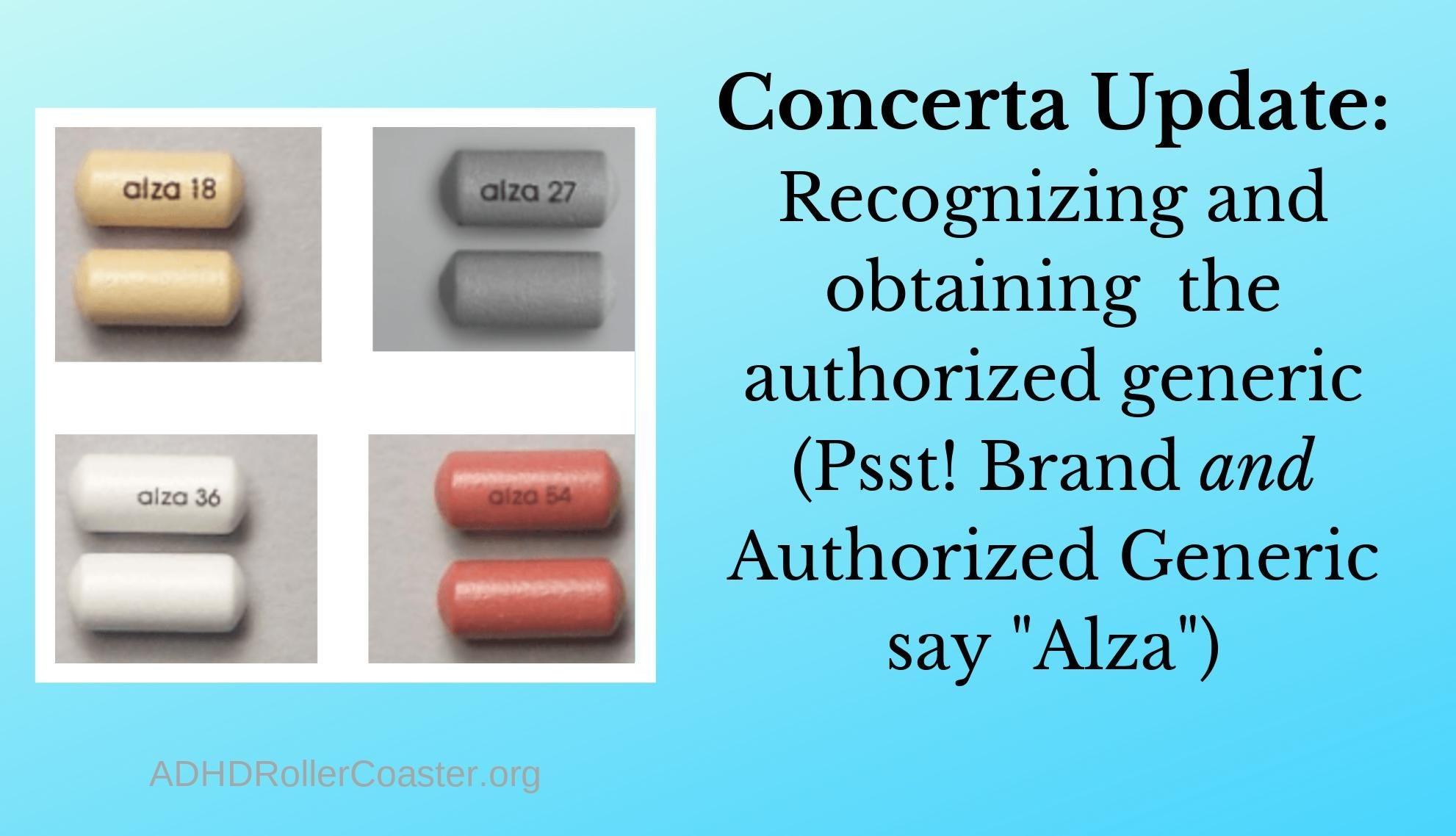 Authorized Generic Concerta Update: 3/9/20 -