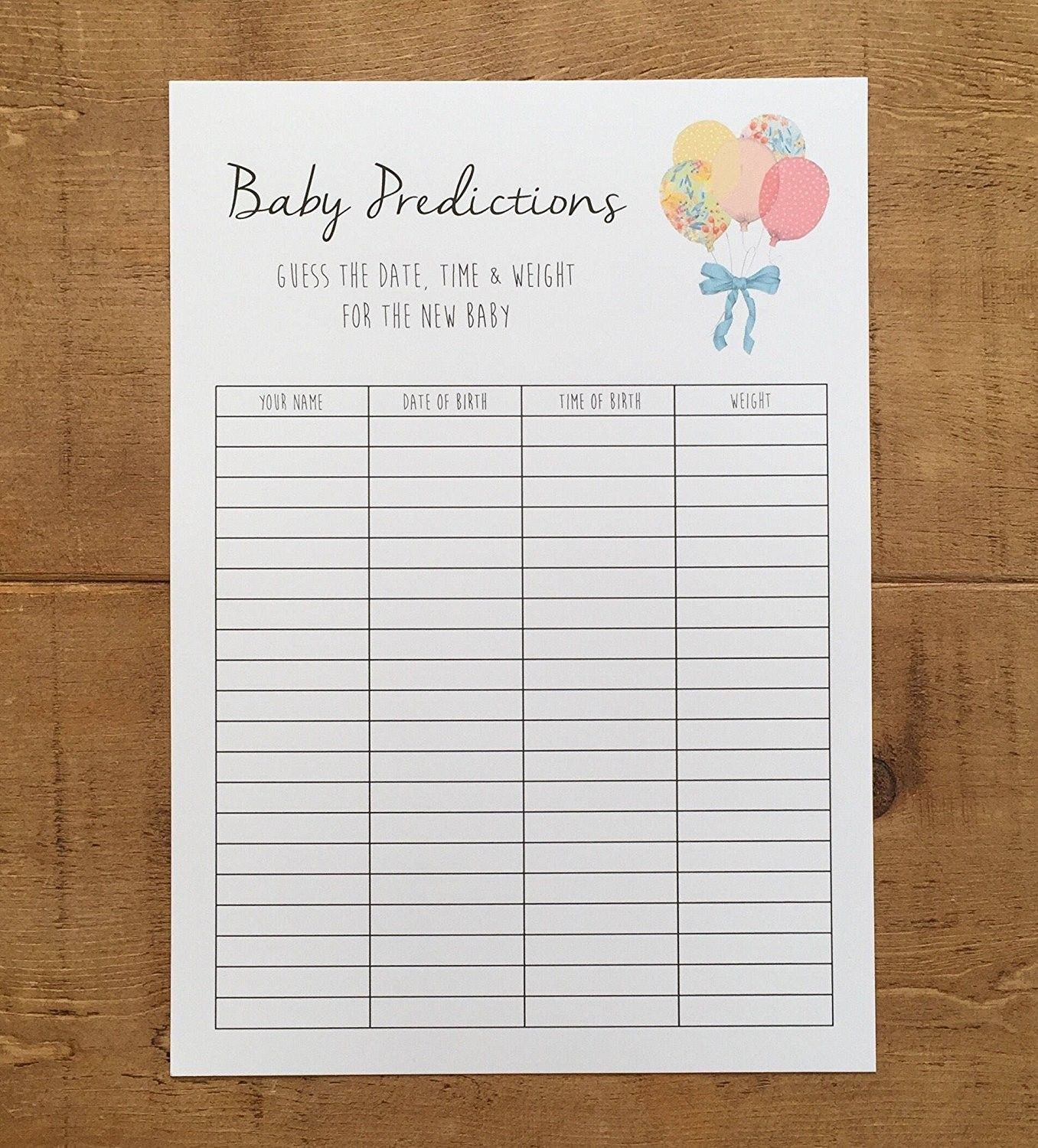 Baby Boy Growth Chart Luxury Baby Shower Game Guess The