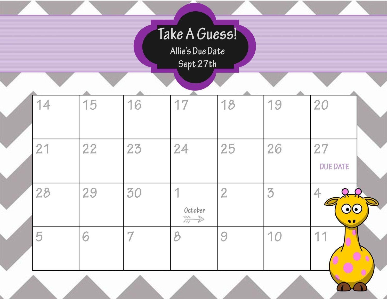 Baby Pool Template Printable - Google Search   Baby Calendar