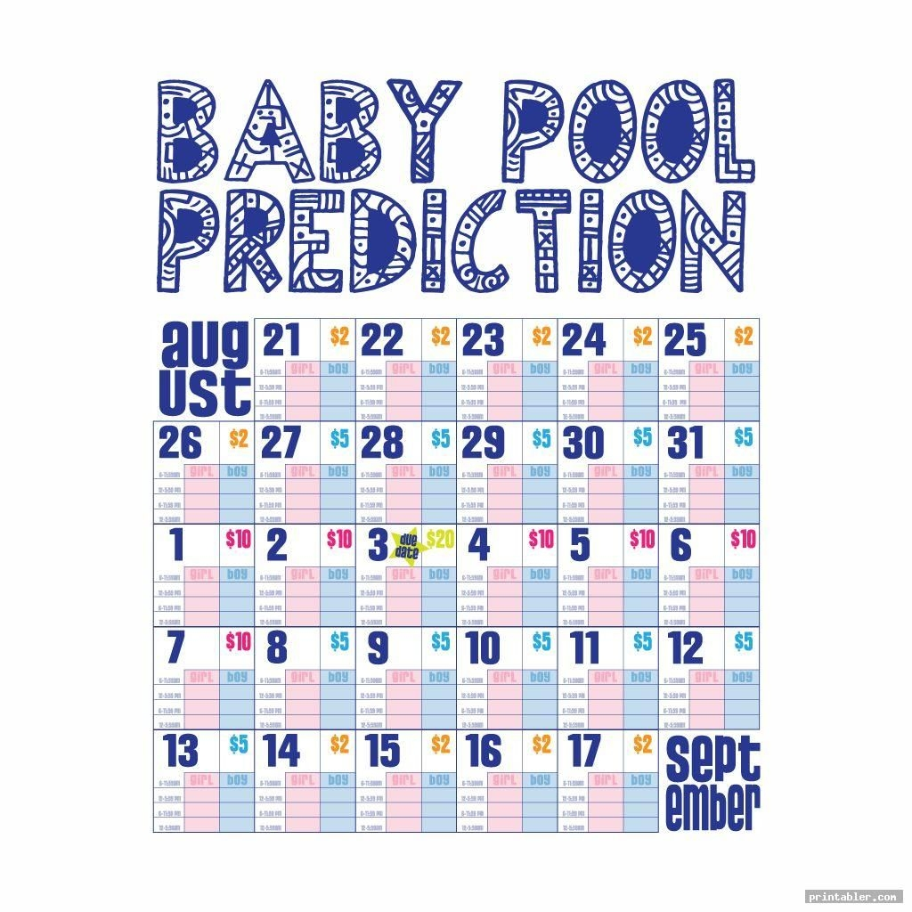 Baby Pool Template Printable - Printabler