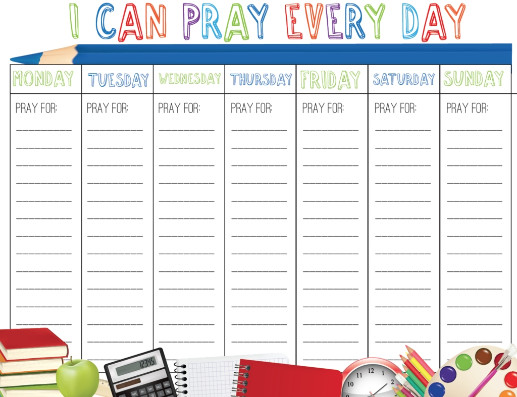 Back To School Prayer Calendar | School Prayer, Back To