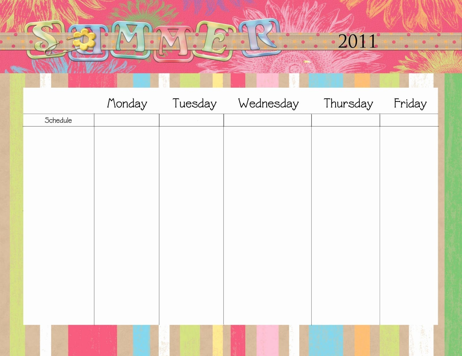 Beautiful 34 Examples Free Printable Blank Calendar Monday