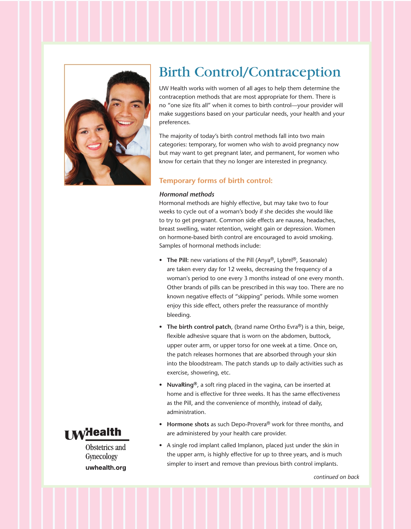 Birth Control/contraception