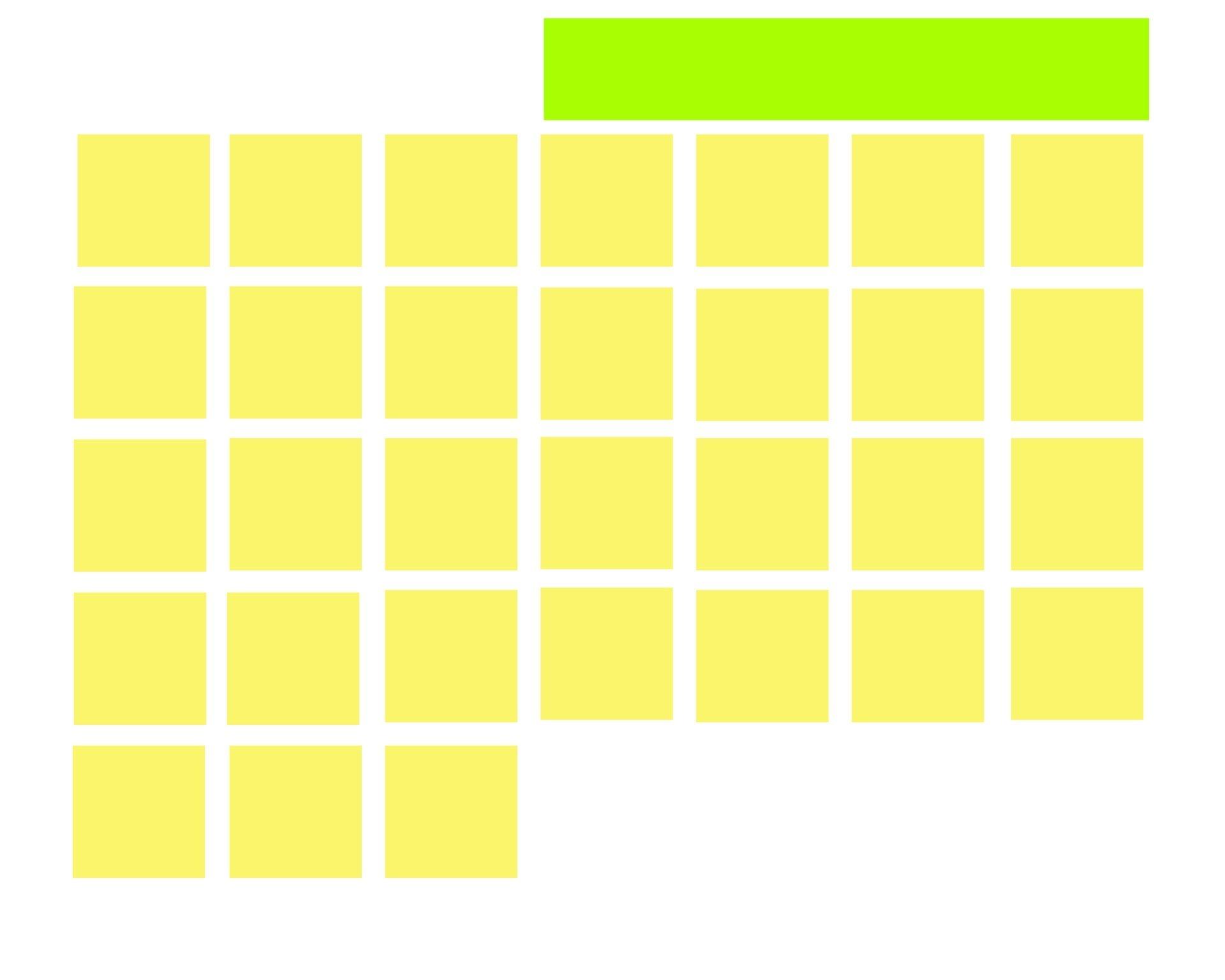 Blank 31 Day Calendar Month Free Stock Photo - Public Domain
