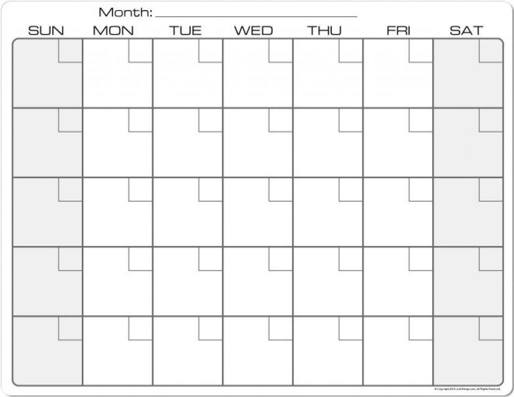 Blank Calendar 8 5 X 11 Printable Calendar 8 5 X 11