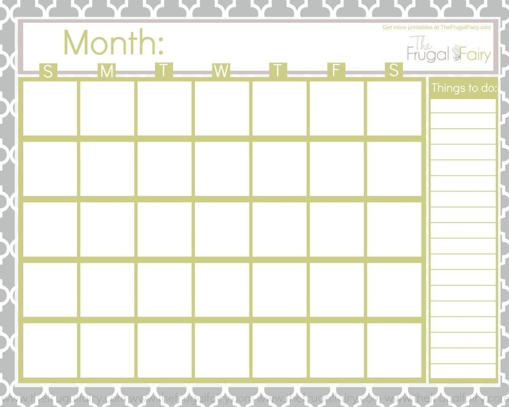 Blank Calendar Tff (With Images) | Monthly Calendar