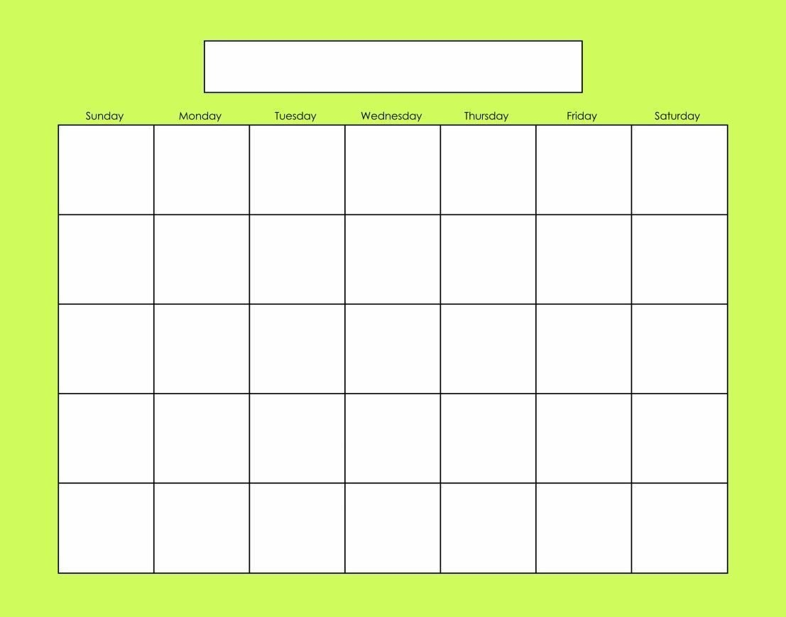 Blank Calendars Activity Calendars (With Images) | Blank