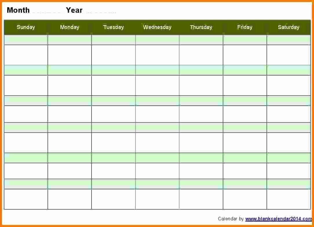 Blank Monthly Calendar Template Word Beautiful 10 Weekly
