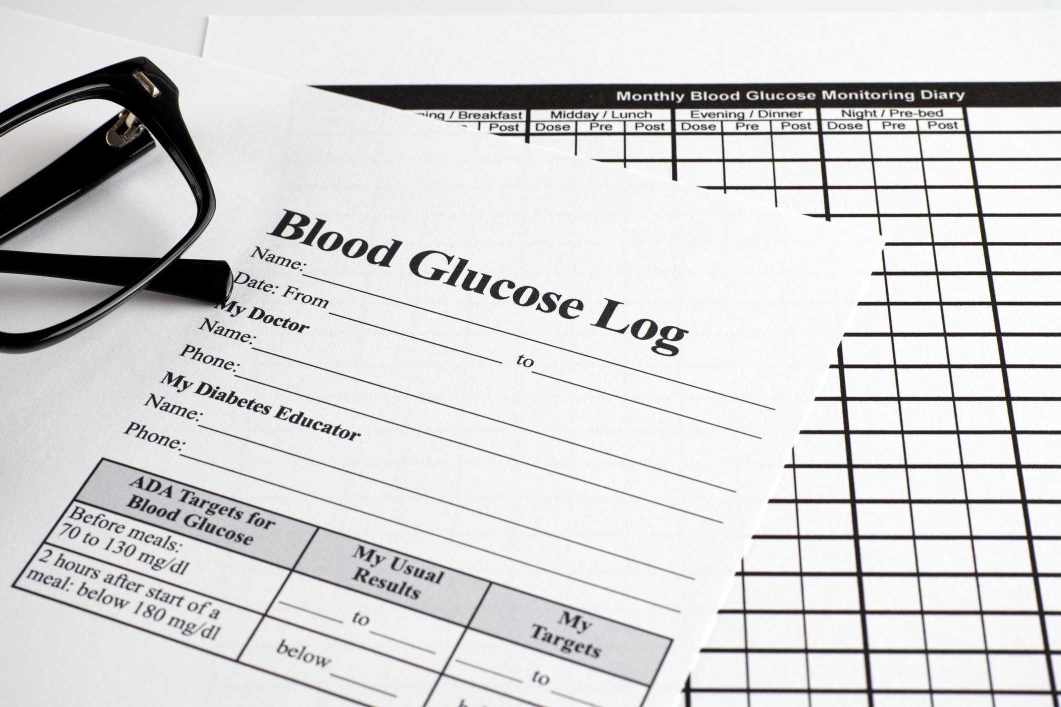 Blood Glucose Diaries - Free Blood Glucose Monitoring Diary