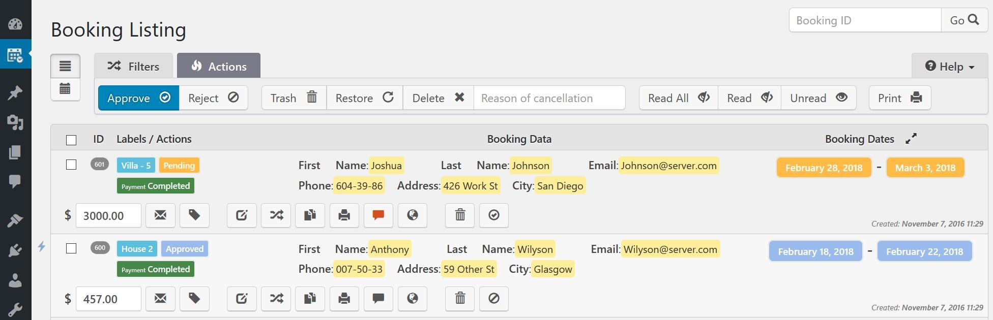Booking Calendar - WordPress Plugin, Receive Bookings Easily