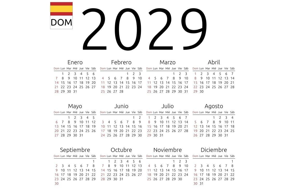 Calendar 2029, Spanish, Sunday In 2020 | Calendar Template