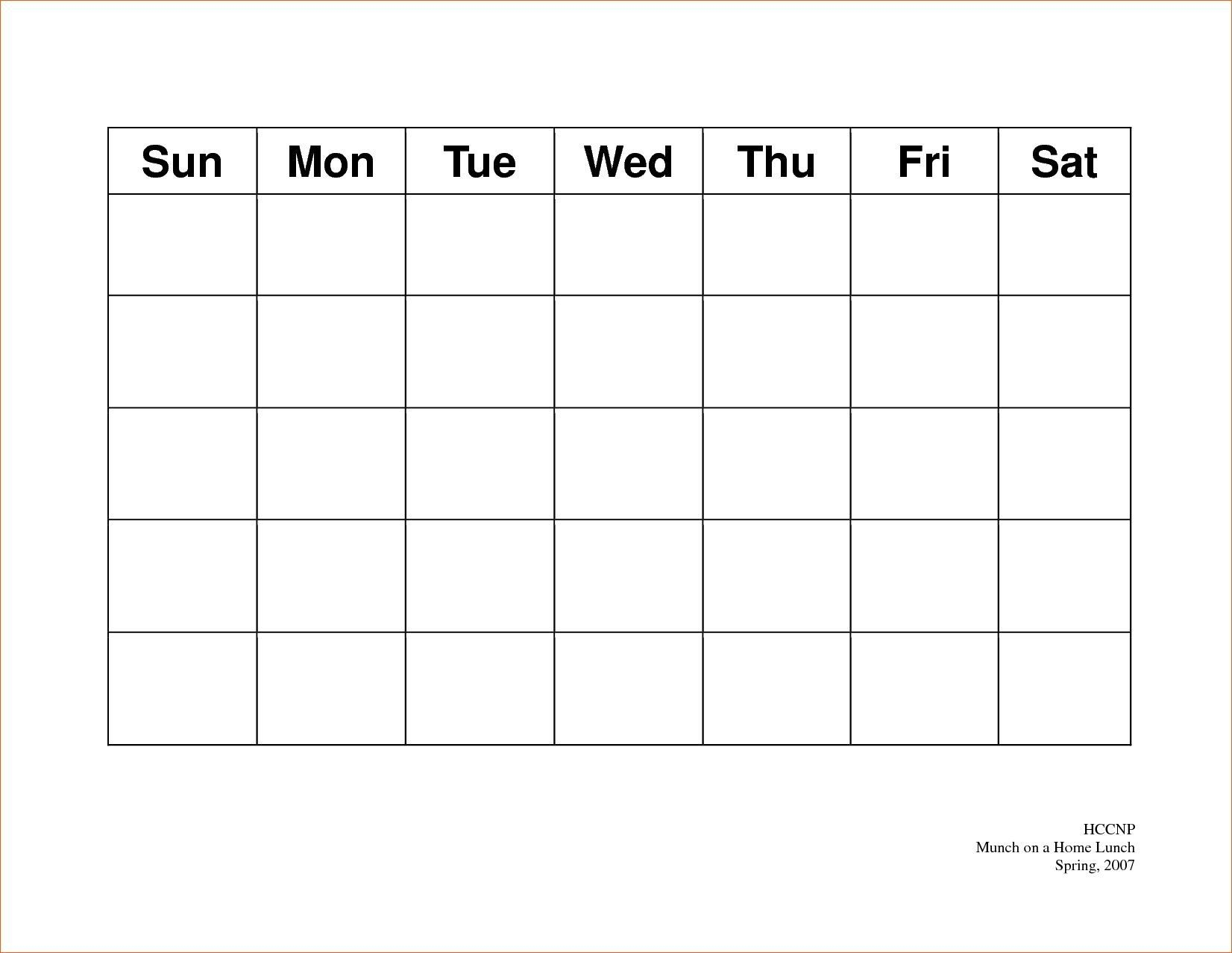 Calendar 5 Day Weekly Calendar Template On 5 Week Calendar