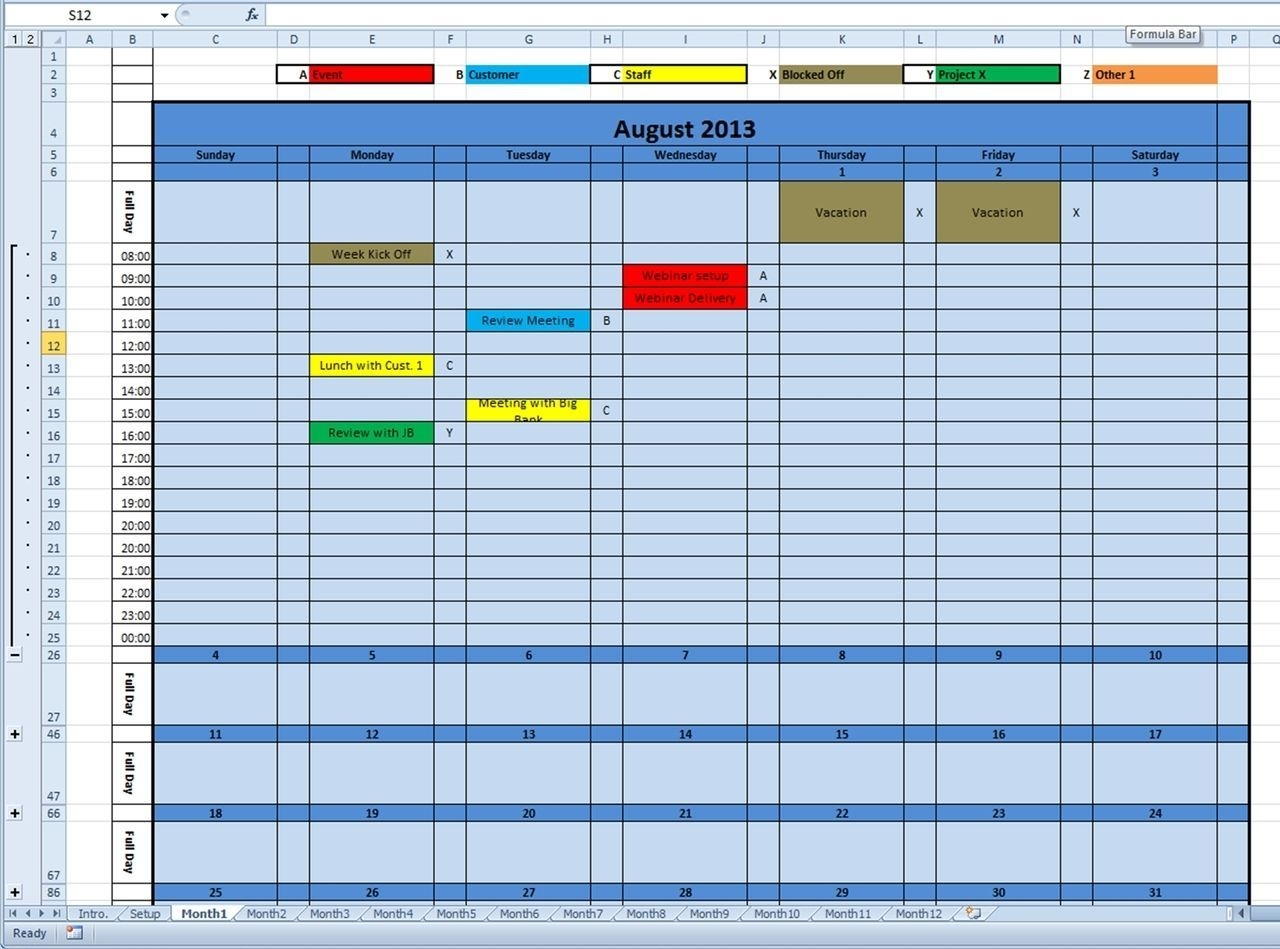 Calendar Monthly Printable 2020 (And Future Years) Excel