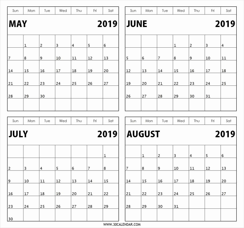 Calendar Template 3 Months Per Page - Calendar Inspiration