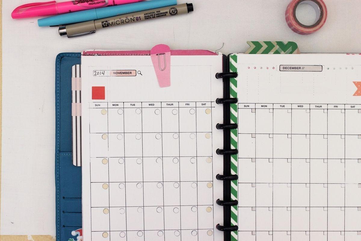 Calendar Template 8.5 X 5.5 | Free Calendar Template Example