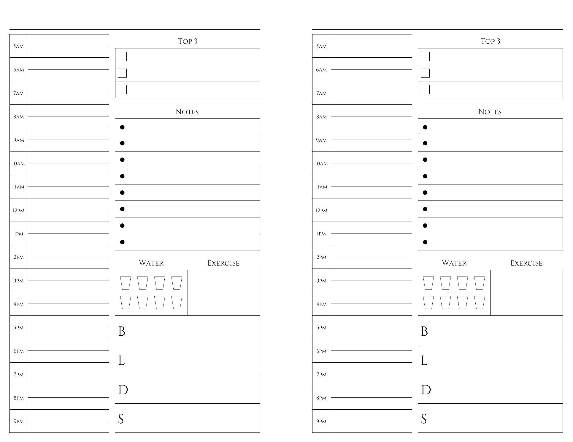 Calendar Template 8.5 X 5.5   Free Calendar Template Example