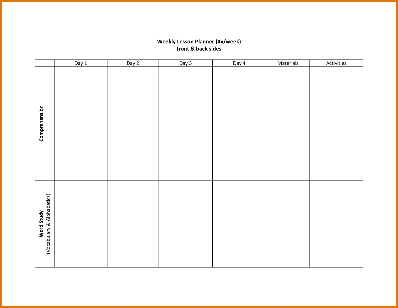 Calendar Template Two Weeks | Free Calendar Template Example