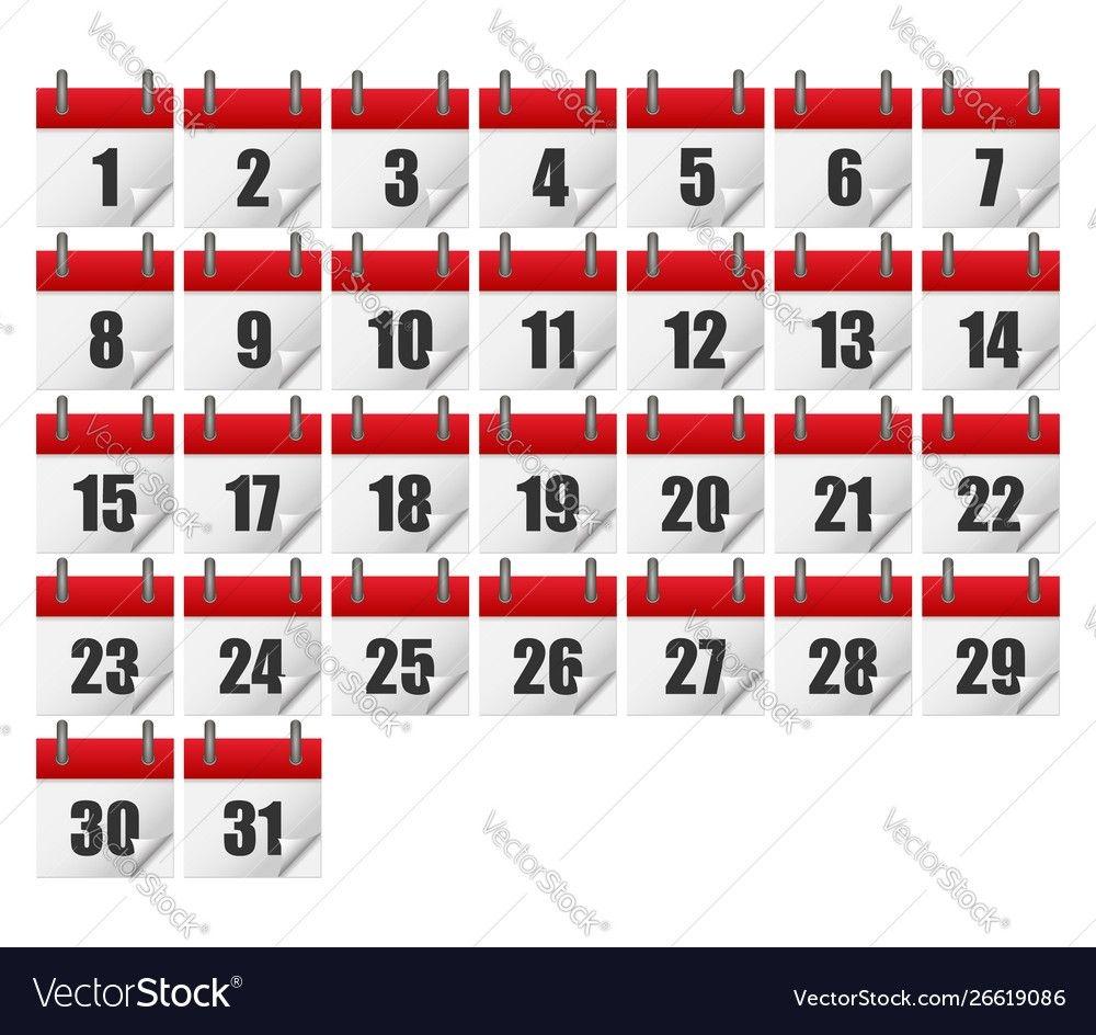 Calendars For All 31 Days A Month Calendar