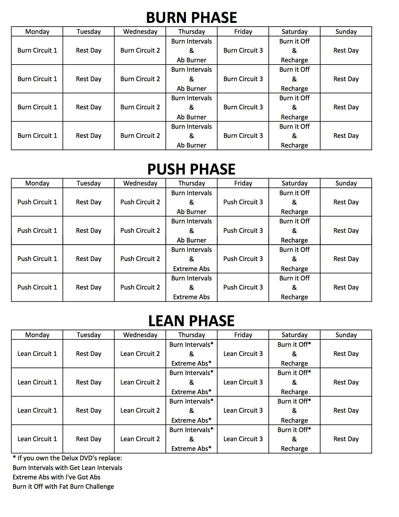 Chalean Extreme Review, Results And Printable Calendar