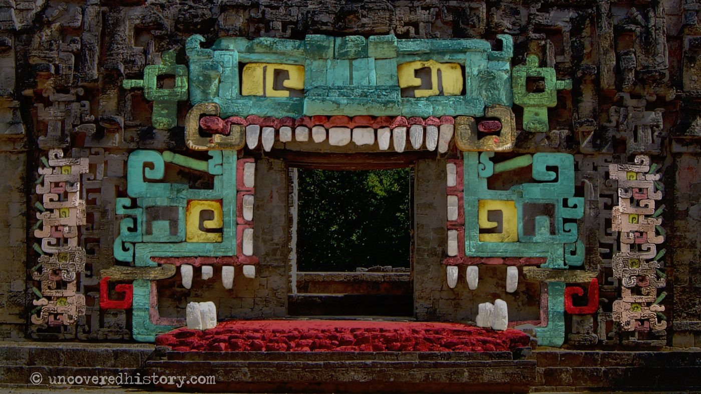 Chicanna Structure Ii - The Meaning Of The Monster Mouth Temple