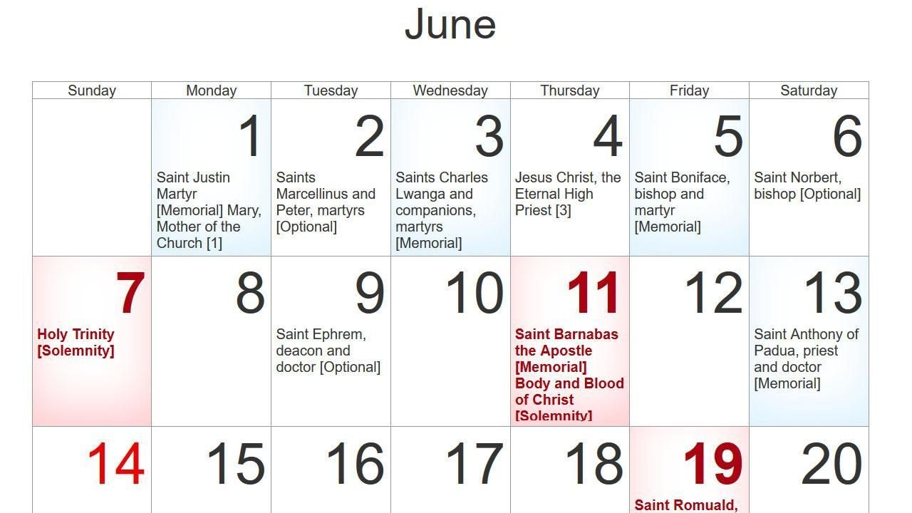 Church Calendar 2020 For Android - Apk Download