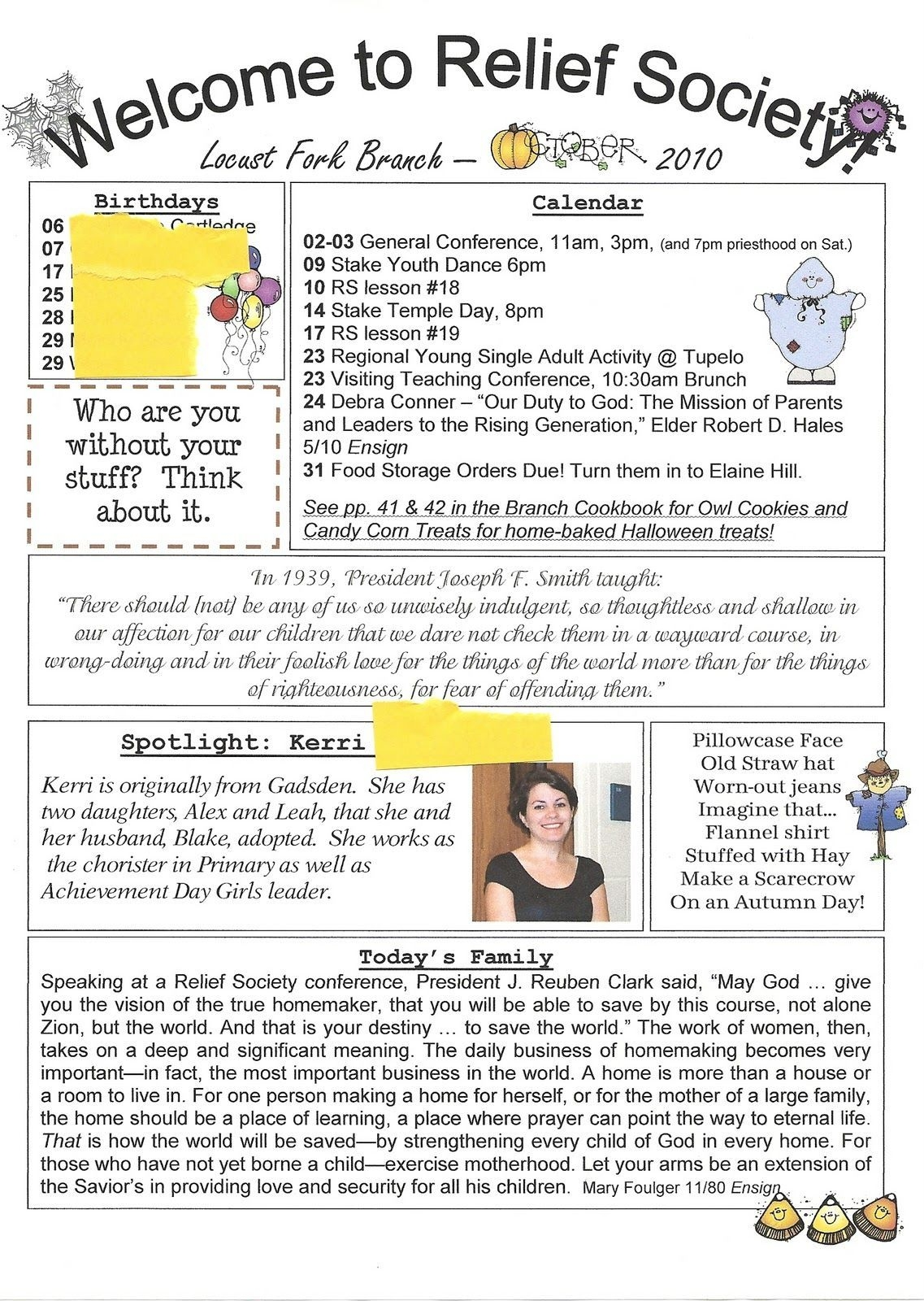 Church Newsletter Ideas   Relief Society, Lds Relief Society