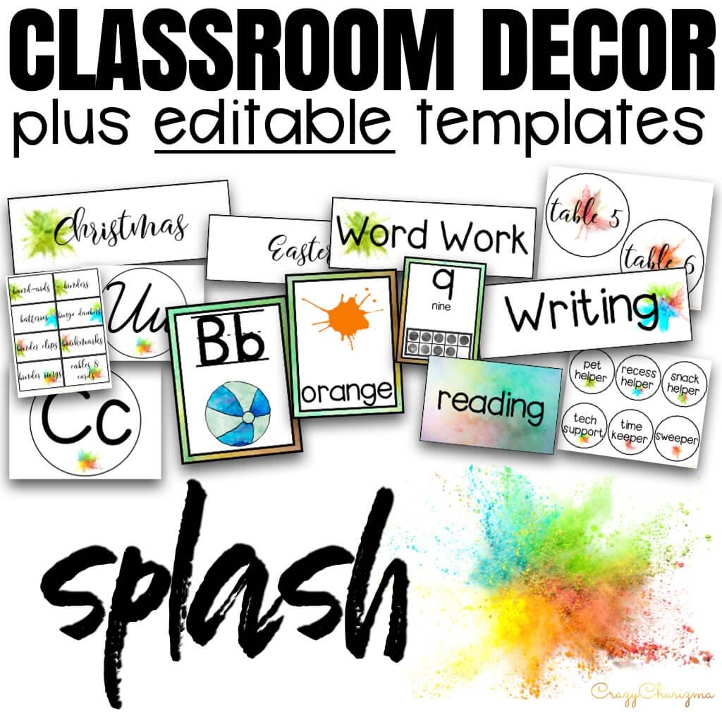 Classroom Decor Templates
