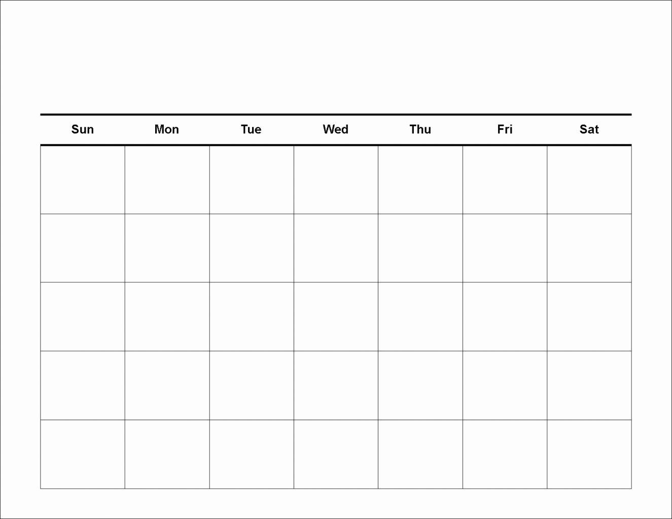Collect Blank Calendar 5 Day Week (With Images) | Calendar