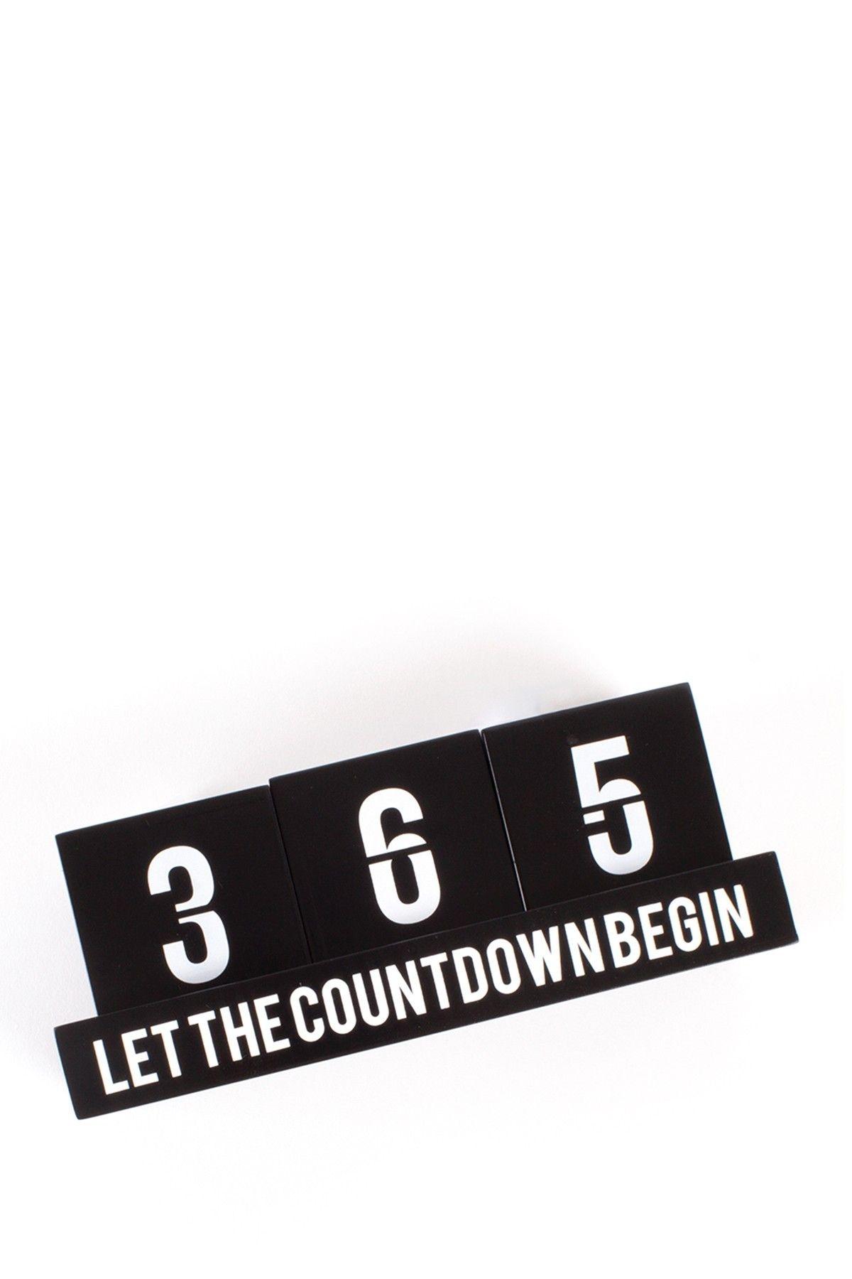 Countdown 365 Calendar - Black