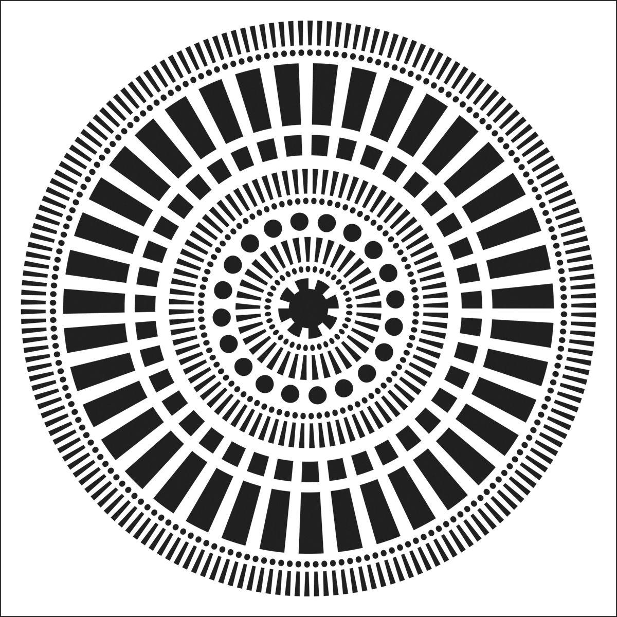 """Crafter's Workshop Template Mayan Calendar 6"""" X 6"""""""