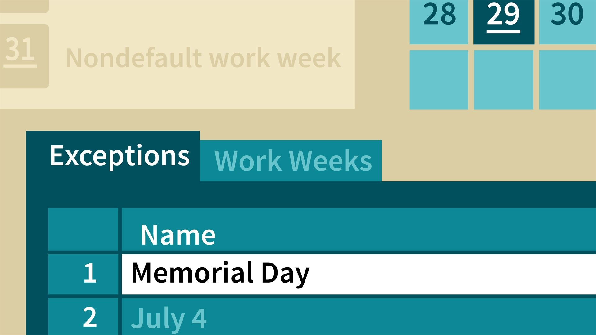 Create A Calendar For A Two-Week Work Schedule