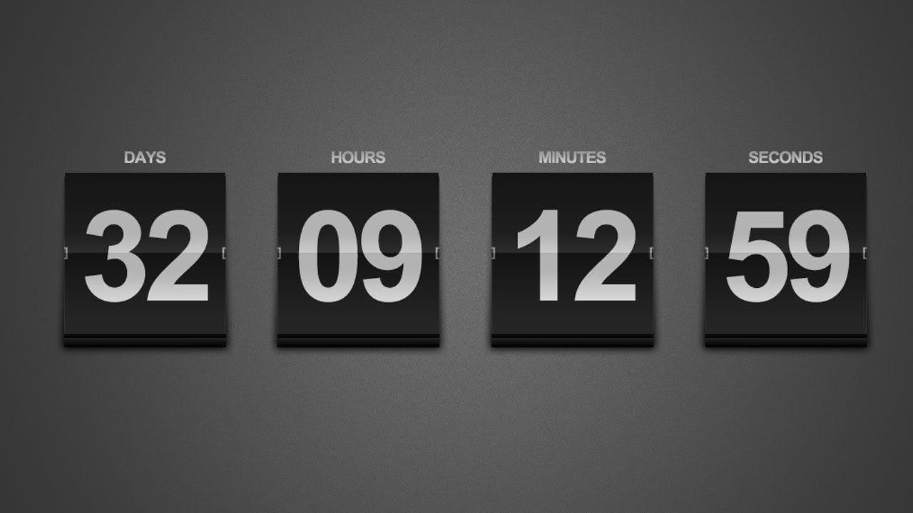 Create A Sleek Countdown Timer -- Photoshop Tutorial
