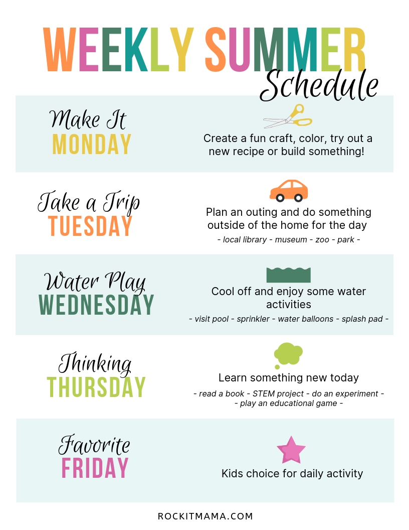 Create A Summer Activity Planner - Free Printable Included