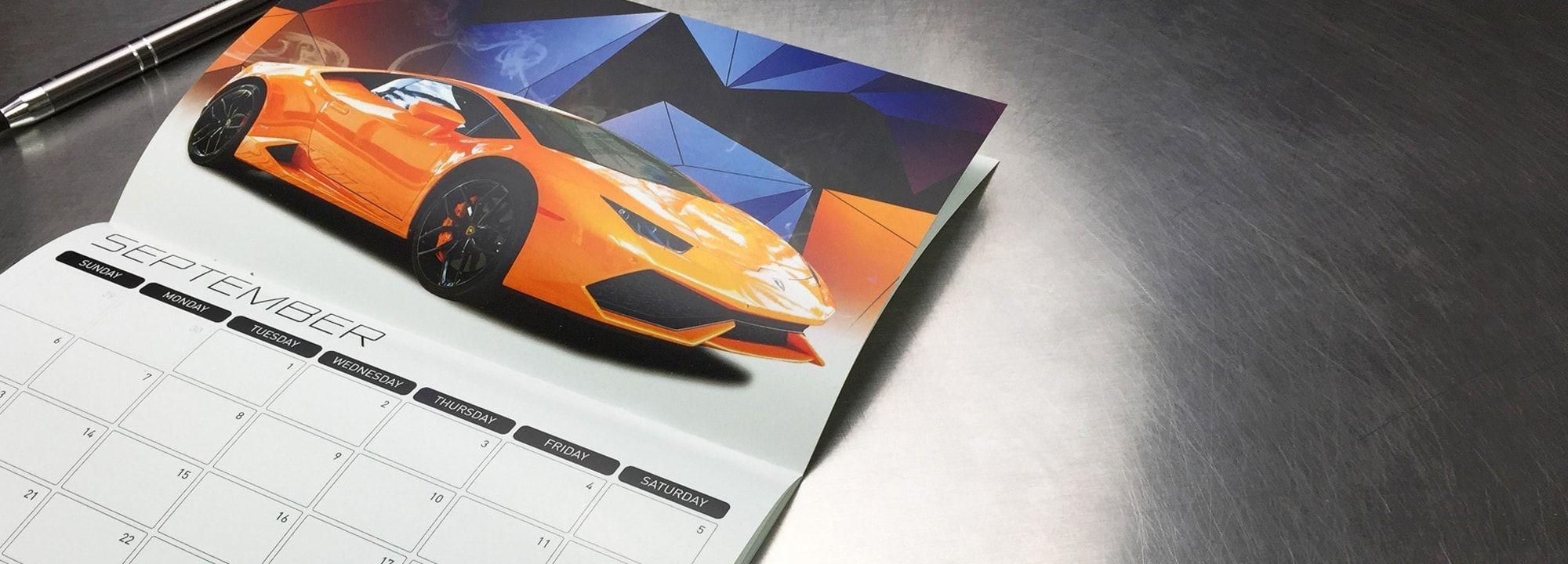 "Custom 5.5 X 8.5"" Wall Calendar Printing - Professional"